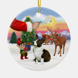 Treat for a Cardigan Welsh Corgi Round Ceramic Ornament