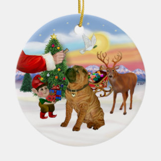 Treat for a Chinese Shar Pei Ceramic Ornament