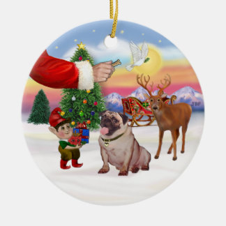 Treat for a Pug (#2) Christmas Ornaments