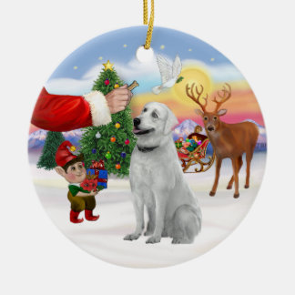 Treat for an Anatolian Shepherd Ceramic Ornament