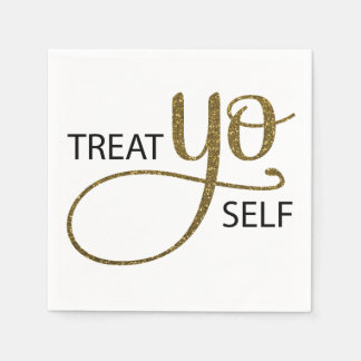 Treat Yo Self Gold Disposable Napkin