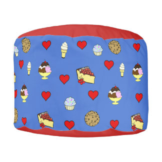 Treats and Hearts Pouf