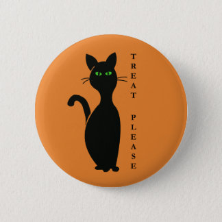 Treats Please Cat 2 Inch Round Button