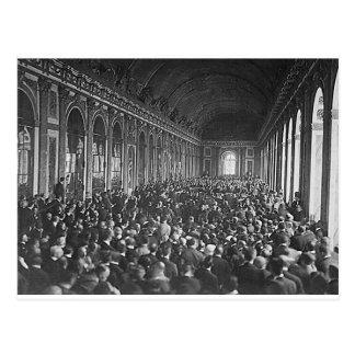 Treaty Of Versailles Postcard