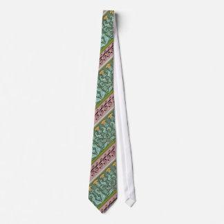 Treble Clef and Art Noveau Thistle Design Tie