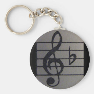 Treble Clef B flat key Key Chain