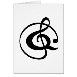 Treble clef card