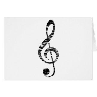 treble clef card