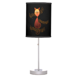 Treble Clef Cat Table Lamp