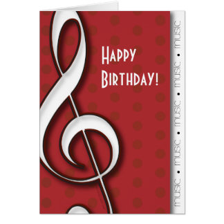 Treble Clef Customizable Music Card