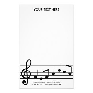 treble clef customized stationery