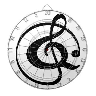 Treble clef dartboard