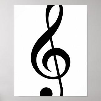 Treble Clef G-Clef Musical Symbol Print