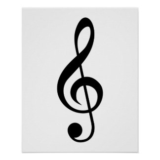 Treble Clef G-Clef Musical Symbol Print