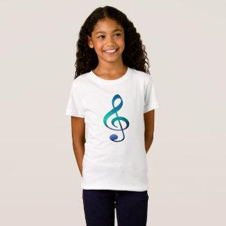 Treble Clef G Music Symbol Girl's Jersey T-Shirt