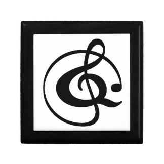 Treble clef gift box