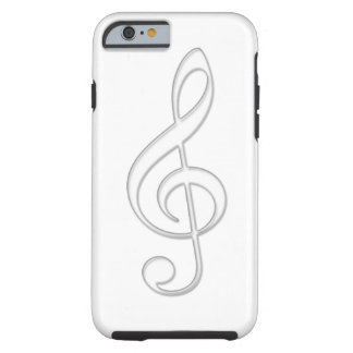 Treble clef glass illustration tough iPhone 6 case