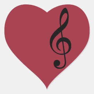 treble clef icon heart sticker
