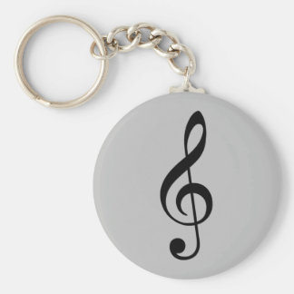 treble clef icon keychain