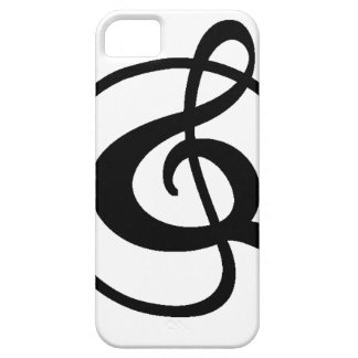 Treble clef iPhone 5 case