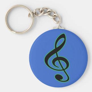 Treble Clef Keychain