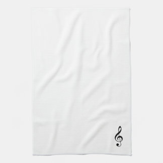 Treble Clef Kitchen Towel