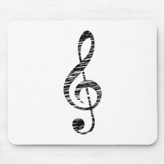 treble clef mouse pad