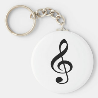 Treble Clef Music Note Keychain