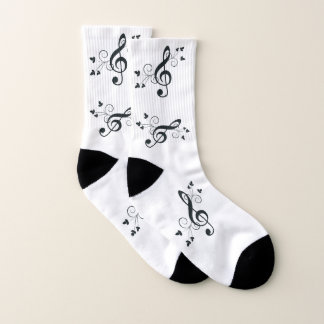 Treble Clef Music Socks
