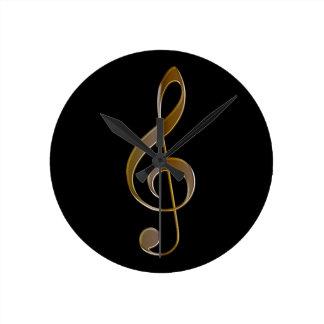 Treble Clef Music-themed Wall Clock