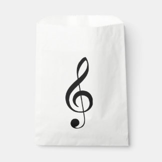 Treble Clef Musical Favor Bag