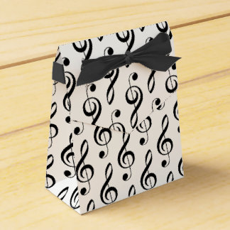 Treble Clef Musical Favor Box