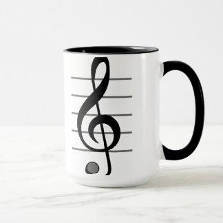 Treble Clef Musical Note Mug