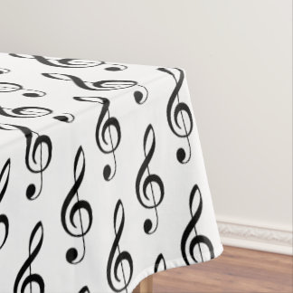 Treble Clef Musical Tablecloth