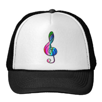 Treble clef note in color_ trucker hat