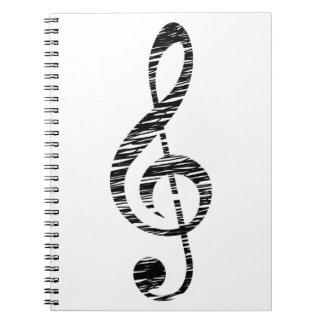 treble clef notebook