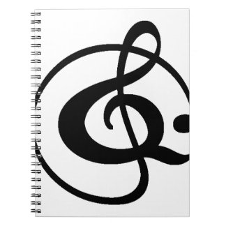 Treble clef notebooks