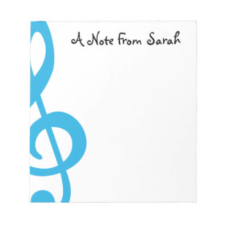 Treble Clef Notepad