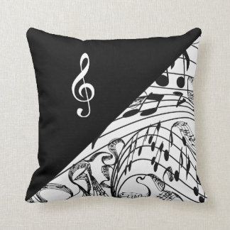 TREBLE CLEF-PILLOW THROW PILLOW