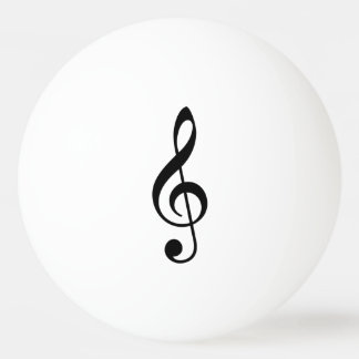 Treble Clef Ping Pong Ball