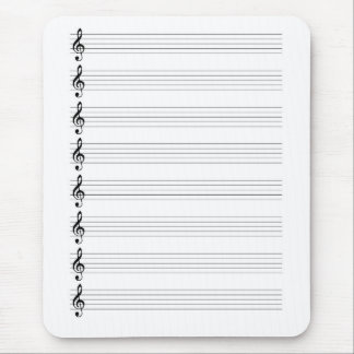 Treble Clef Staves Mouse Pad