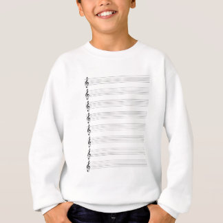 Treble Clef Staves Sweatshirt