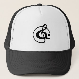 Treble clef trucker hat