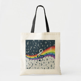 Treble Clef Wave Rainbow Colors Tote Bag