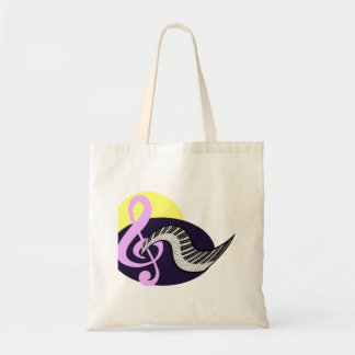 Treble Clef with keyboard graphic Tote Bag