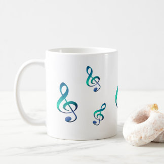 Treble G Clef Music Symbol Coffee Mug