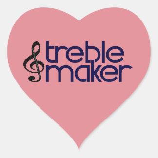 Treble Maker Heart Sticker