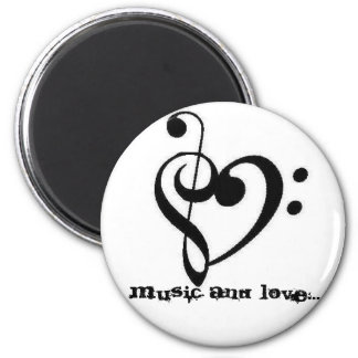 treblebassheart, music and love... 2 inch round magnet