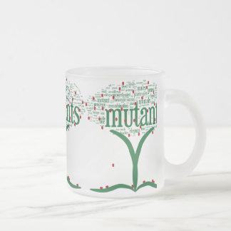 tree3 frosted glass coffee mug