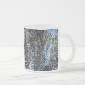 Tree 10 Oz Frosted Glass Coffee Mug